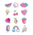 pop art cartoon halftone fashion retro fruits vector image vector image
