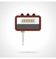 Portable headphone amp flat color icon vector image vector image