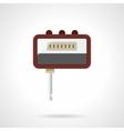 Portable headphone amp flat color icon