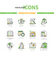 real estate - modern line design style icons set vector image