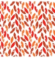 Red and orange autumn leaves grunge seamless vector image vector image