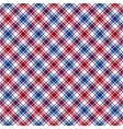 Red blue white diagonal check fabric texture vector image vector image