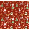 Red christmas pattern with confetti vector image vector image