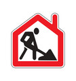 remote work from home road sign symbol isoalte on vector image