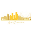 San Francisco City skyline golden silhouette vector image vector image