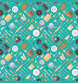 seamless pattern with kitchenware pans jars vector image vector image