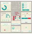 Set elements used for user interface vector image vector image