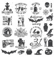 set of halloween party badges vector image