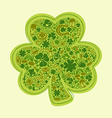 st patricks days card of green objects on white vector image vector image