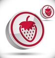 Strawberry 3d icon vector image vector image