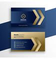 stylish premium gold business card design vector image vector image