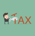 tax deduction vector image vector image