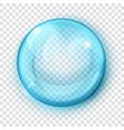 transparent light blue sphere vector image vector image