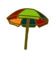 umbrella beach design template vector image