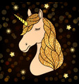 unicorn with golden hair