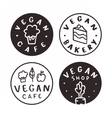 Vegan cafe bakery shop logotypes vector image vector image