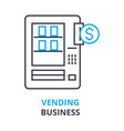 vending business concept outline icon linear vector image