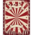 Vintage circus poster background advertising vector image