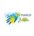 world down syndrome day design vector image