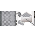 The classical gray template vector image