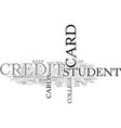 a guide for student credit cards text word cloud vector image vector image