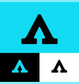 a letter logo with arrow and direction vector image vector image