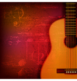 abstract red sound grunge background with acoustic vector image