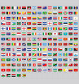 all national flags world with names vector image vector image