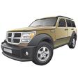 American compact SUV vector image vector image