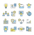 Assembly Icon Set In Color vector image vector image