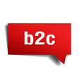 b2c red 3d speech bubble vector image vector image