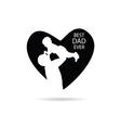 best dad ever in heart vector image