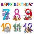 birthday greeting card designs vector image