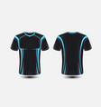 black and blue layout e-sport t-shirt design vector image vector image
