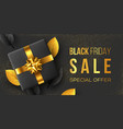 black friday sale horizontal poster or banner vector image vector image