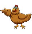 Brown spring chicken vector image vector image