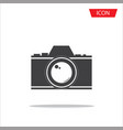 camera lens icon photography symbols vector image
