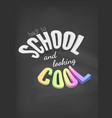 chalkboard colorful banner back to school vector image vector image