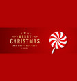 christmas banner horizontal design template with vector image vector image