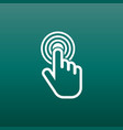 click here icon hand cursor signs white button vector image vector image