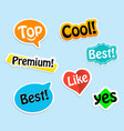 collection paper stickers colorful labels for vector image