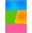 comic vertical colorful template vector image vector image
