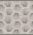 conch seashells on linen neutral seamless pattern vector image