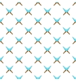 Crossed spikes pattern cartoon style vector image vector image