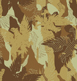 Desert eagle military camouflage seamless pattern vector image vector image