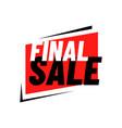 final sale logo sign banner special offer vector image vector image