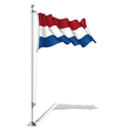Flag Pole Netherlands vector image