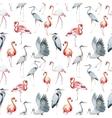 flamingo and heron pattern vector image