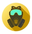 Flat icon of gas mask respirator vector image