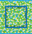 floral seasonal blue frame vector image vector image